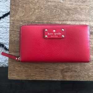 Kate Spade Long Red Wallet